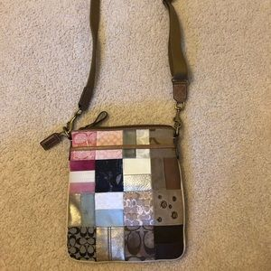 Multicolored Crossbody Coach Bag